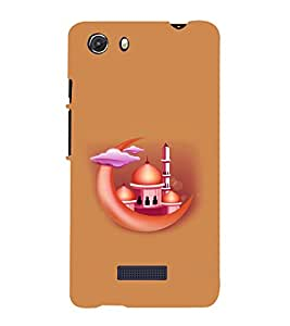 printtech Masjid Moon Back Case Cover for Micromax Q372 Unite 3