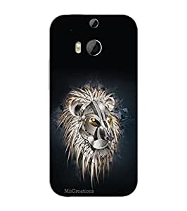 MiiCreations 3D Printed Back Cover for HTC One M8,Tiger