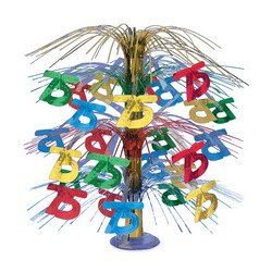 "Beistle 50768-MC ""75"" Cascade Centerpiece, 18-Inch"