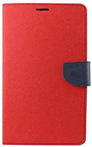 Exoic81 Wallet Flip Cover For Samsung Galaxy Core Prime (SM-G360) - Red