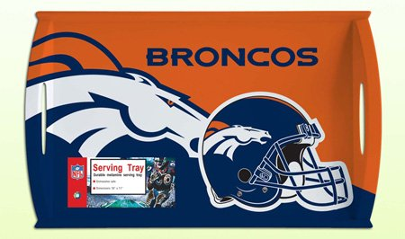 NFL Denver Broncos Melamine Serving Tray