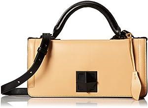 L.A.M.B. Eliza Shoulder Bag,Camel,One Size