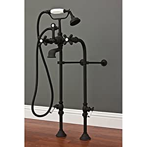 Strom plumbing extra tall free standing telephone faucet for Bathtub for tall people