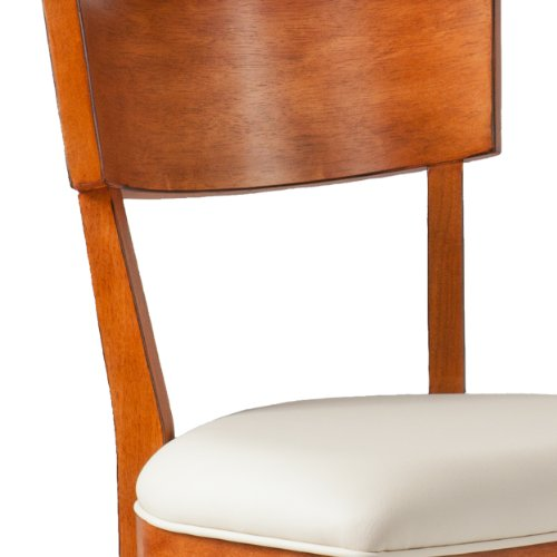 Southern Enterprises Madison Dining Chairs Pair, Pecan Brown