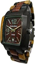Tense Multicolored All Wood Jumbo Mens Rectangular Dark Dial Watch J8102IDM DF