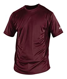 Rawlings Men\'s Short Sleeve Baselayer Shirt, Maroon, Large
