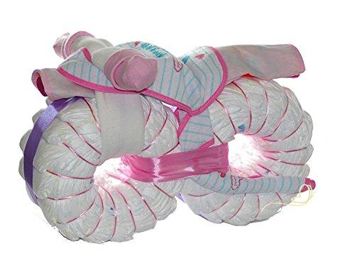 windeltorte motorrad rosa windelmotorrad m dchen geschenk zur geburt babyparty und babyshower. Black Bedroom Furniture Sets. Home Design Ideas