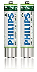"""Philips LFH9154/00 Philips Rechargeable NiMH """"AAA"""" Batteries"""