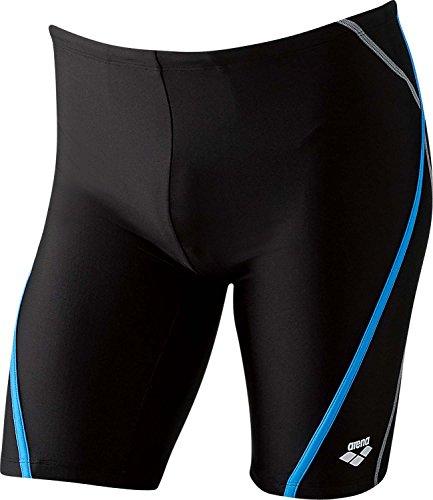 arena(アリーナ) メンズ フィットネス 水着 ロングボックス FLA-5765 Kブラック×Wブルー×ブラック×グレイ×グレイ(BKBU) Oサイズ
