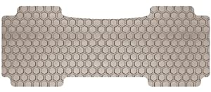 Intro-Tech Hexomat Second Row Custom Floor Mat for Select Mercury Mariner Models - Rubber-like Compound (Tan)