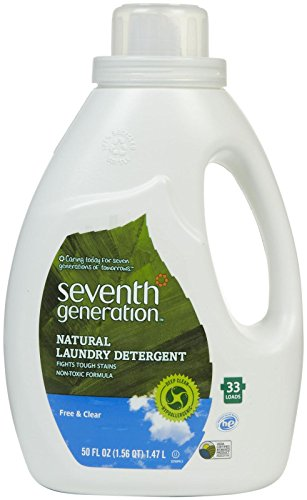 Seventh Generation Natural Laundry Detergent Free & Clear – 50 Fl oz