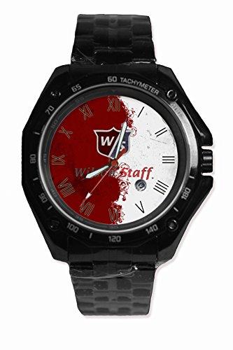 Hot Item Wilson Staff Golf Sport Watch Custom Image Design Black Alloy