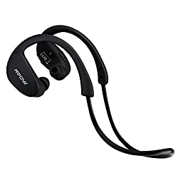Mpow Cheetah Wireless Bluetooth 4.1 Sports Headphones Comfortable Behind-ear Clear Stereo Running Exercise Gym Workout Earbuds Earphones Earpieces Hands-free Car Headsets with Noise Cancelling Isolating Mic for Apple iPhone 6
