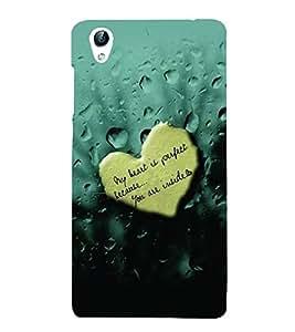 PrintVisa Romantic Love Quotes 3D Hard Polycarbonate Designer Back Case Cover for VivoY51L