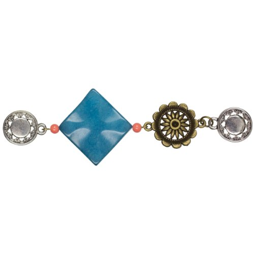 Make The Connexion Short Connector 1/Pkg-Turquoise Diamond Gemstone, Turquoise Diamond Gemstone