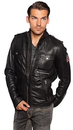 true religion lederjacke funnel trw1343m herren schwarz l bekleidung. Black Bedroom Furniture Sets. Home Design Ideas
