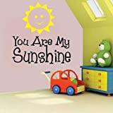 Generic YOU ARE MY SUNSHINE VINYL WALL DECAL lettering sticker mural QUOTE FAMILY KIDS