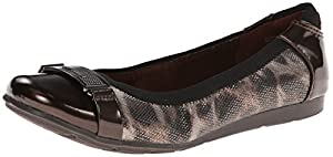 AK Anne Klein Sport Women's Staycalm Synthetic Ballet Flat, Bronze, 9.5 M US