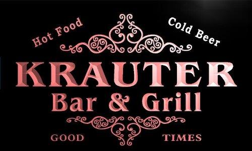 u24385-r-krauter-family-name-bar-grill-home-beer-food-neon-sign-barlicht-neonlicht-lichtwerbung