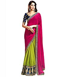 Z Hot Fashion Women's Printed Border work Saree In Georgette Fabric (ZHKN1010...