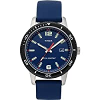 Timex Originals Quartz Watch with Blue Dial Analogue Display and Blue Resin Strap T2N664PF