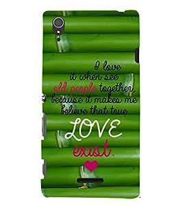 EPICCASE love exist Mobile Back Case Cover For Sony Xperia T3 (Designer Case)
