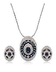 Eclat Rhodium Brass Pendant Set For Women New Fashion Jewelry (1112211RM)