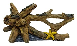 Hagen Marina Driftwood Starfish Betta Aquarium Decor, Large