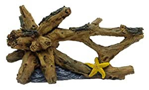 Amazon.com : Marina Driftwood Starfish Betta Aquarium Decor, Large
