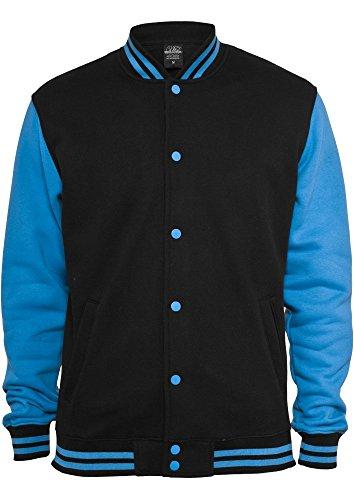 Urban Classics Kids 2-tone College Sweatjacket, Farbe:blk/tur;Größe:12