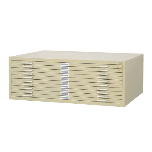 Safco  10-Drawer Steel Flat File, 42 x 30