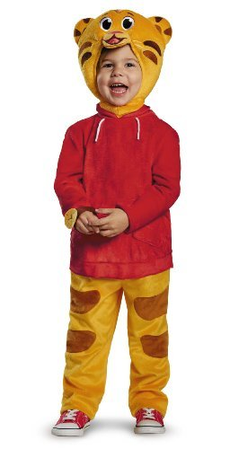 [Disguise Daniel Tiger's Neighborhood Daniel Tiger Deluxe Toddler Costume, Medium/3T-4T by Disguise] (Daniel Tiger Deluxe Costumes For Toddlers)