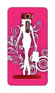 KnapCase Shopping Girl Designer 3D Printed Case Cover For Asus Zenfone 2 Laser ZE601