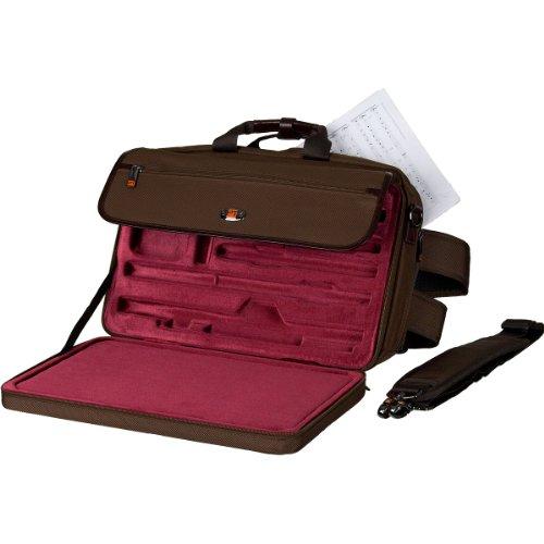 Pro Tec Lux Flute / Piccolo Messenger PRO PAC Case LX308PICCCH Flute, Chocolate