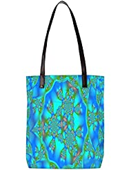 Snoogg Abstract Multicolor Design Womens Digitally Printed Utility Tote Bag Handbag Made Of Poly Canvas With Leather... - B01HI2QNVM