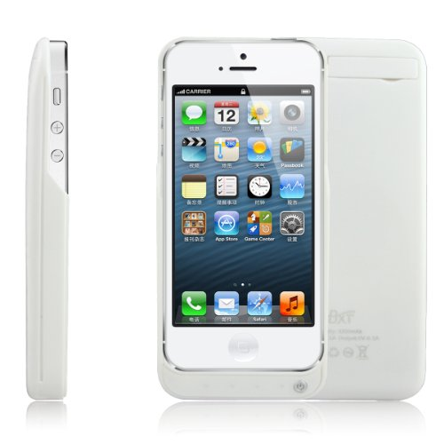 Bao Xin ] Extended Battery Pack For Iphone 5 (Not For 5S 5C)Share External Protect And Extra Power 2200Mah (White)