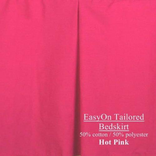 Tailored California King Easyon Dust Ruffle 18 Inch Drop Hot Pink front-564005