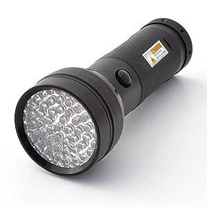 LEDwholesalers 395 nM 51 UV Ultraviolet LED flashlight Blacklight 3 AA, 7202UV395