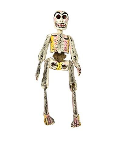 Uptown Down Found Dia De Los Muertos Female Skeleton, Beige