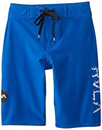 RVCA Big Boys\' Register Swim Trunk, Ultra Blue, 27