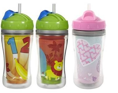 Playtex Baby The Insulator Twist 'N Click Straw Cup 9 Oz(Assorted Colors And Patterns) front-507441