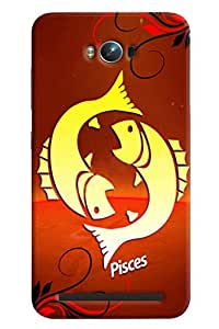 Clarks Sunsign Pisces Hard Plastic Printed Back Cover/Case For Asus Zenfone Max