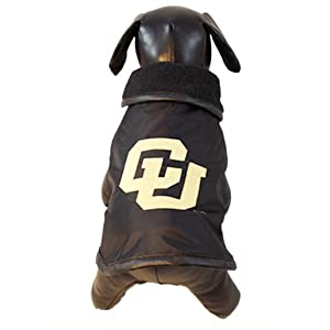 NCAA Colorado Golden Buffaloes All Weather Resistant Protective Dog Outerwear,... by All Star Dogs