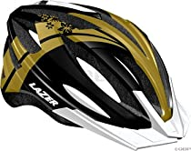 Lazer Kiss Helmet with Visor: Black/Gold