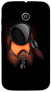 Good Looking 3D multicolor printed protective REBEL mobile back cover for Moto-E - D.No-DEZ-1372-motoe