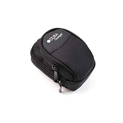 DURAGAGDGET Deluxe Black Carry Case / Bag / Pouch with Belt loop for digital camera + belt clip for Pentax OPTIO M90