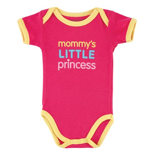 Baby Sayings Bodysuit - Family Girl, Mommy's Little Princess, 6-9 Months