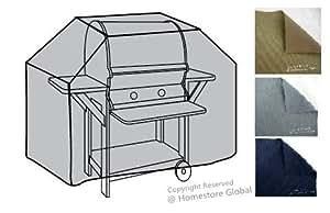 HomeStore Global moyen Housse de protection pour Barbecue à gaz 135 (l) x 57 (p) x 112/120(h)cm - Matière Premium 600D polyester, très résistante et anti-humidité - Gris