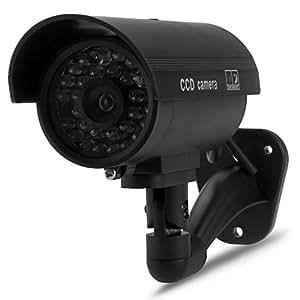 Factice Fausse Imitation Dummy Caméra Cam Sans Fil LED Rouge Sécurité Surveillance CCTV Intérieur/Extérieur Maison