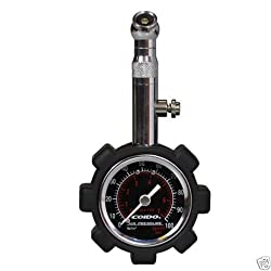 Coido 6075 Metallic Tyre Pressure Guage with Analog Meter